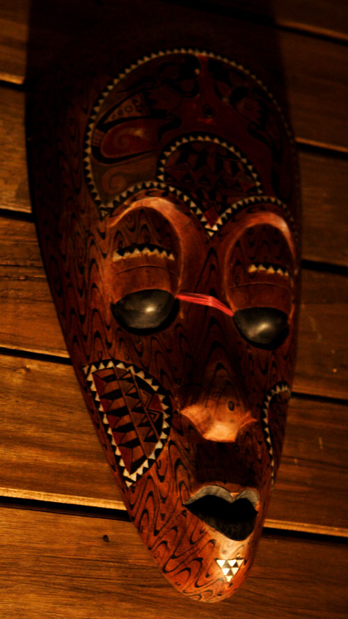 Indonesian Mask - Shadow and light