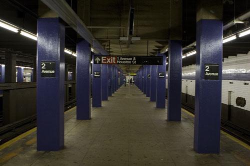 New York Subway - Metro - United States - 1st Avenue - Houston Street