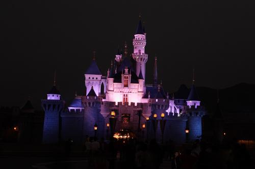 Disneyland Resort HongKong - Sleeping beauty castle at night